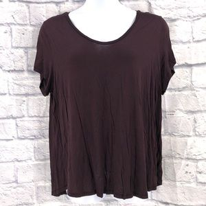 H&M Plus Size 2x Plum Purple T Shirt